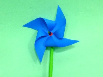 Very Simple Paper Windmill (PinWheel) Making Video Tutorial for Kids and That Actually Spins