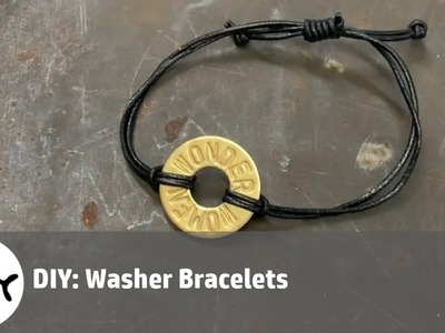Washer bracelets :DIY How to make a washer bracelet