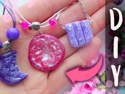 3 DIY EASY Necklaces with Epoxy Resin and Sea Salt ∎ Polymer Clay