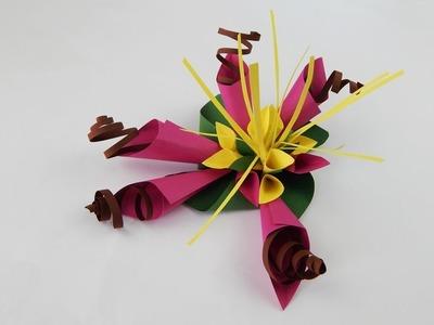 Decoration flower DIY papercraft Dekoration Blume