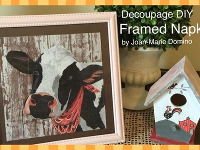 Decoupage DIY Simple Wall Art with Joan-Marie Domino