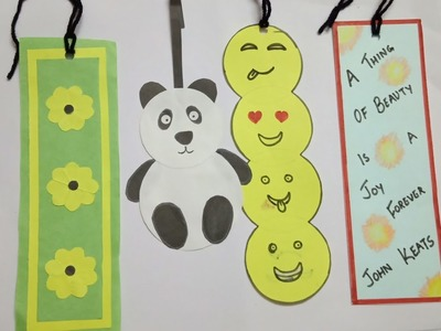 DIY- 4 easy bookmarks