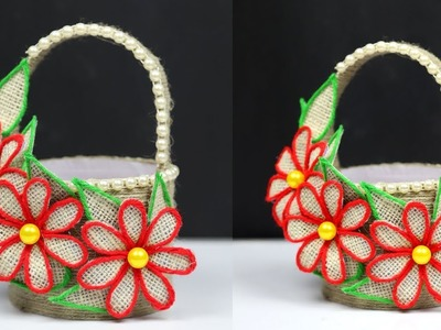 DIY Best Jute and bottle basket || Beautiful Homemade Ideas from Jute Art and Craft