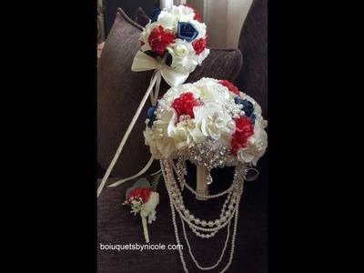 DIY Brooch Flower Girl Wand l Easy wedding project l Brooch Bridal Bouquet