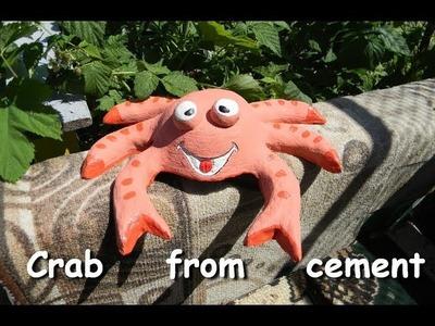 DIY - Decoration ideas for home | Figures for garden | Funny cement garden crab | Diy garden ideas