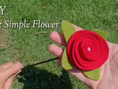 DIY FELT SIMPLE FLOWER - NEW IDEA FOR YOUR BEAUTIFUL HOME DECORATION - IDE BISNIS JUAL BUNGA FLANEL