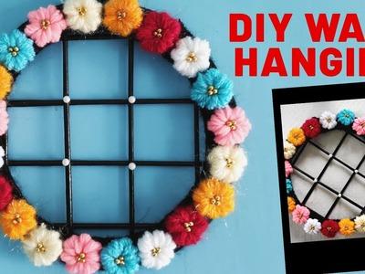 DIY Room Decor !!! Wool and Newspaper Craft Idea !!! DIY Wall Hanging