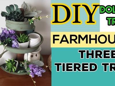 DOLLAR TREE DIY|FARMHOUSE DIY DECOR\3 TIERED TRAY