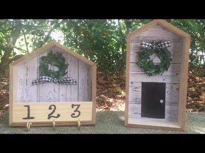 Dollar tree Wood house DIY | Super Cute DIY |June 2019