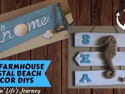 Easy Dollar Tree DIY Farmhouse Coastal Beach Decor