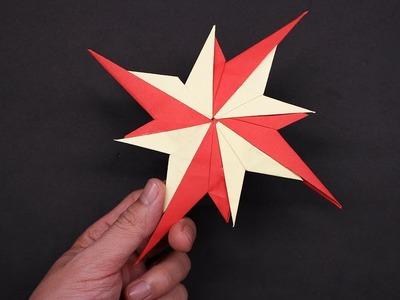 Easy Origami Paper Ninja star 4 points
