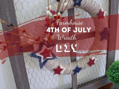 Farmhouse 4th Of July Wreath DIY | Fourth of July Decor