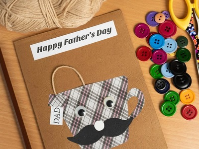 Father's Day Easy card ideas for Kids. Handmade Father's day card.DIY Card