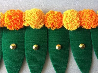 Festival Decoration Leaf Toran Making | DIY | Door Hanging Door Toran