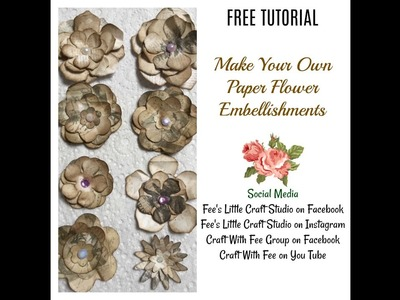 Handmade Flower Embellishments | Card embellishments, Scrapbook ... | 300x400