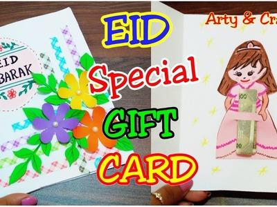 Handmade Greeting Card for Eid. DIY Gift Card for EID. Eid Greeting Card By Arty & Crafty