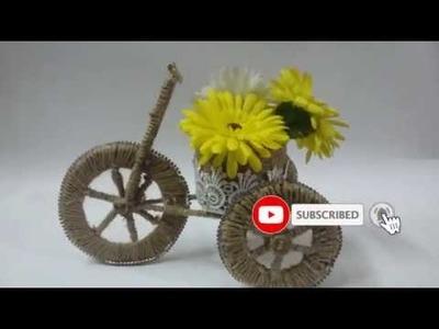 #Handmadecrafts#Jutebicycle#jutecrafts | Best out of waste | DIY Jute Home Decorating show piece