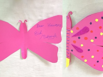 How to Make Beautiful Butterfly Card I DIY Butterfly Cards I Eid Card Design 2019