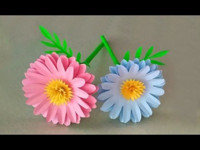 How to make beautiful paper stick flowers