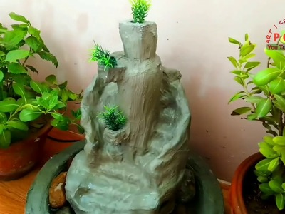 How to make cement water fountain water fall fountain | diy | p craft