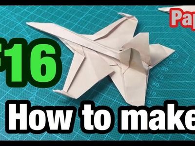 [MonMen House] How to make a fight F16 - Military paper