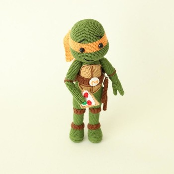Ninja Turtle Michelangelo, Ninja Turtles, Cartoon Character, AMIGURUMI pattern