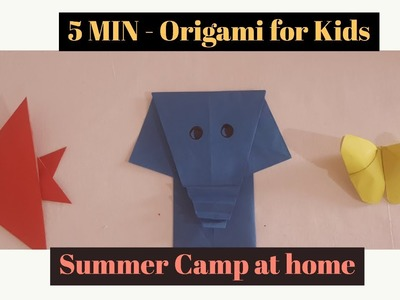 Origami for Kids | Paper Crafts | Easy Origami | 5 MIN Crafts | Summer Camp Activites