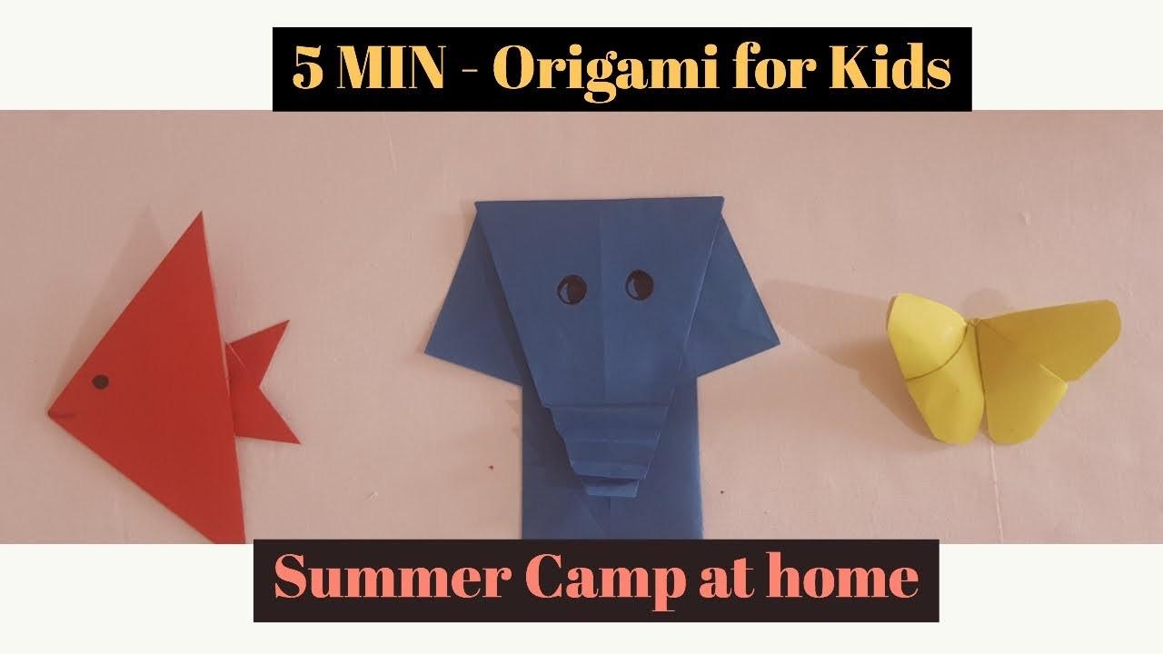 Origami for Kids | Paper Crafts | Easy Origami | 5 MIN Crafts | Summer Camp Activites