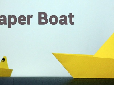 Paper Boat Origami tutorial for kids