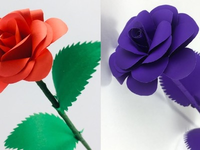 Paper Crafts | Paper Leaves | Paper Rose  | Paper Flowers | Flowers Making