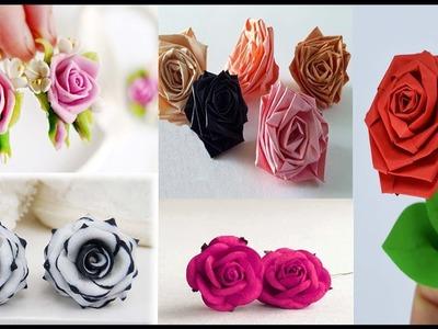Paper Earrings || Paper Rose Earrings || Quilling Paper Earrings || Quilling Earrings