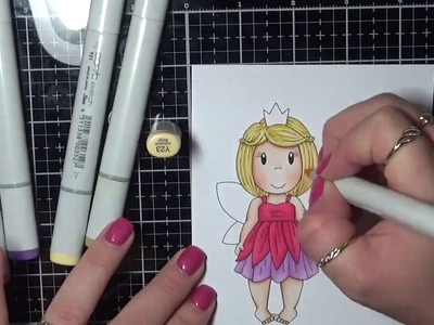 Paper Nest Dolls  Butterfly Princess - Speed Colouring