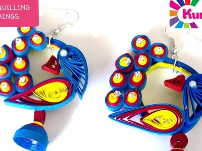 PAPER QUILLING EARRINGS.QUILLING JEWELLERY.ACCESSORIES. PAPER ART