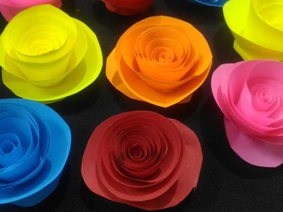 Paper Rose making   Paper rose origami   paper rose making eay   paper rose flower