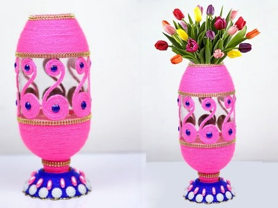 Plastic Bottle DIY Flower Vase Idea || New Model Flower Vase Out of Plastic Bottle