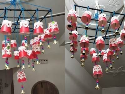 Plastic Cups Amazing Wind Chime Design|DIY wind chime|Plastic Cups Wind Chime Craft ideas
