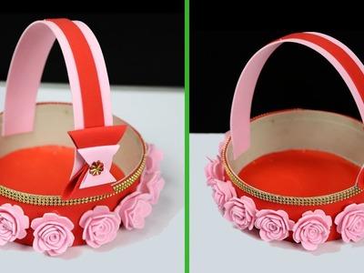 Plastic Pot Easy and Affordable DIY Gift Basket | Great DIY Flower Basket Ideas | Best Out of Waste