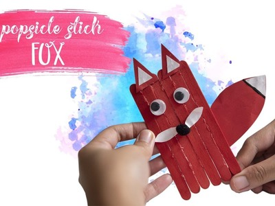 Popsicle Sticks - FOX | Fun DIY