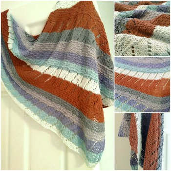 Cape Cod Summer Shawl Wrap Knitting Pattern