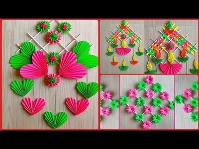 Top 3 Amazing and beautiful paper flower wall hangings DIYs. wall decoration ideas. room decor DIYs