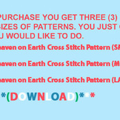 Unique Hand Made pdf Sewing Cross Stitch Patterns Dmc Crafts Heaven on Earth Cross Stitch Pattern***LOOK***