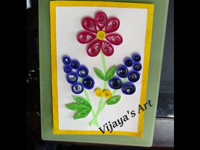 Amazing and simple beautiful  Paper Quilling Wall Frame Art