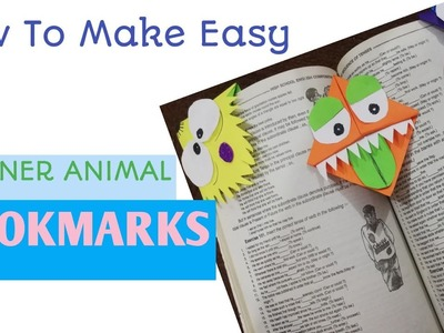 DIY cute Animals Bookmarks | how to make Cute Animals corners Bookmarks