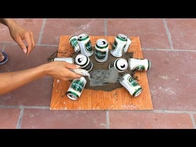 DIY Flower Pots At Home - Garden Design Ideas - How To Make Cement Flower Pots