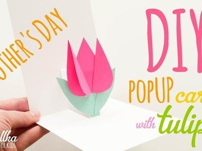 DIY pop up card with tulip for Mother's Day | kartka na Dzień Mamy - mishellka for kids #12