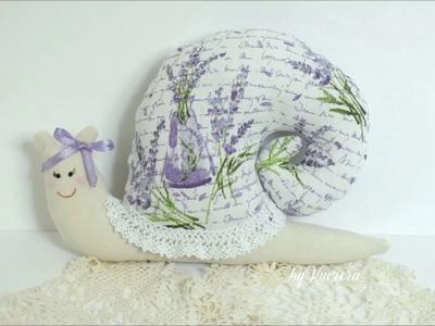 DIY Sewing tutorial - Tilda snail - lavender