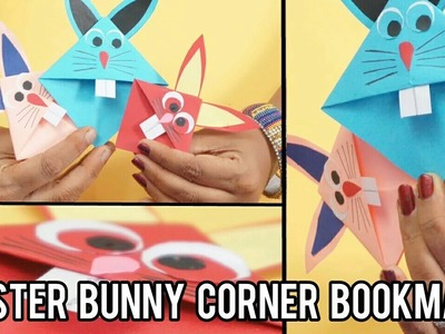 Easter Bunny Corner Bookmark Paper Craft for kids