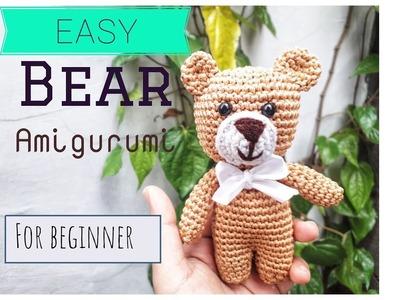 Easy Bear Amigurumi Crochet for beginner part 1. boneka rajut beruang part 1