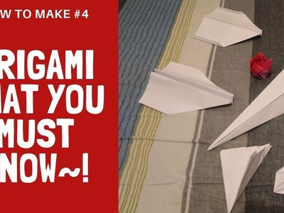 EASY origami that you MUST know ! Complete tutorial of six origami models