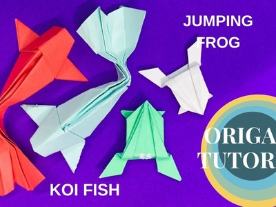 Fun Origami Tutorial to make Koi Fish and Jumping Frog